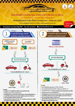 อบรมสำหรับผู้ขอใบอนุญาตขับรถ และผู้ขอต่อใบอนุญาตขับรถ ครั้งที่ 8