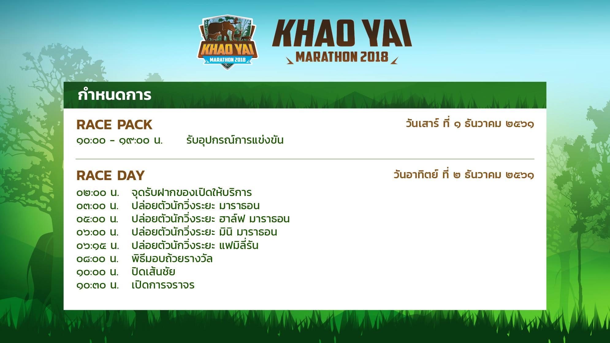 Khao Yai Marathon 2018 วิ่งชิงถ้วยพระราชทาน 3 พระองค์