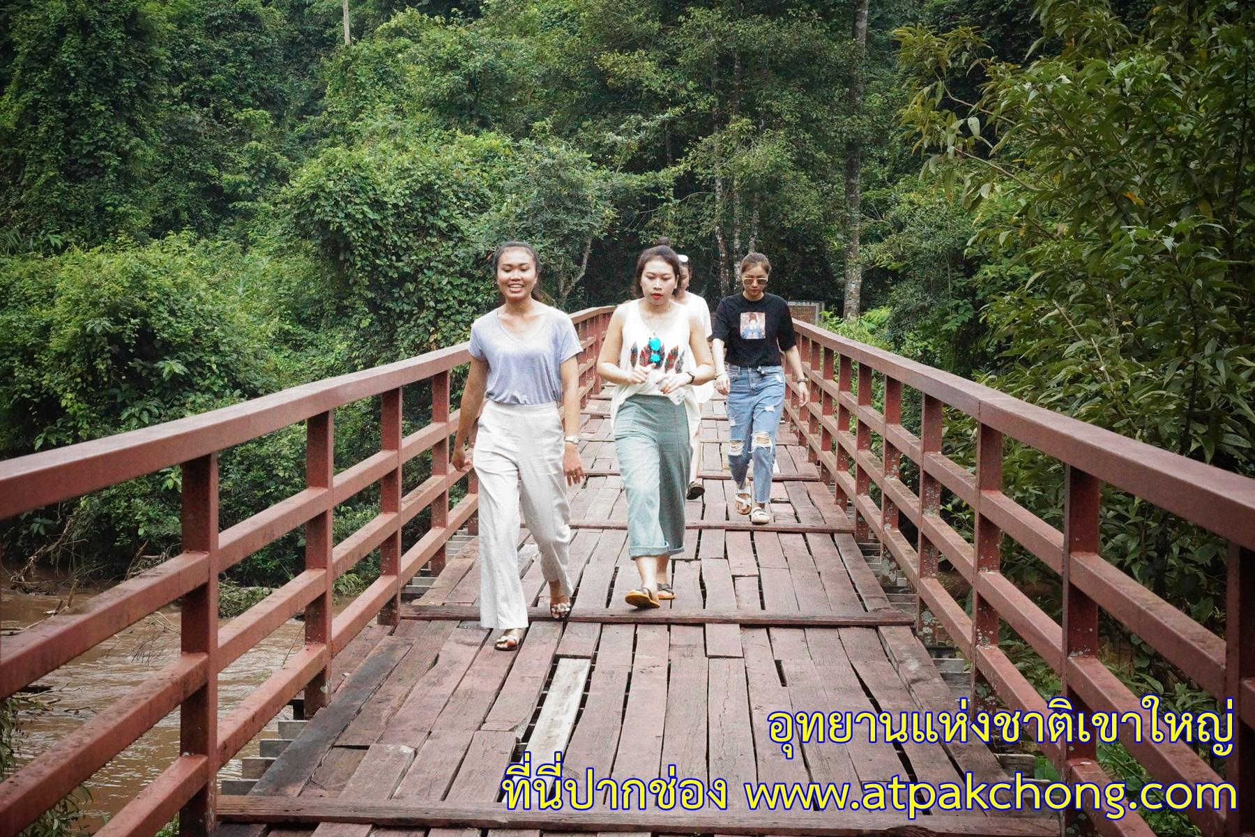ข้ามสะพาน ทางเข้า น้ำตกเหวนรก อุทยานแห่งชาติเขาใหญ่